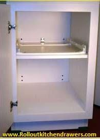 Place your order for pull out shelves from Roll Out Kitchen Drawers and prevent yourself from wasting a lot of time in searching for kitchen contents!