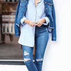 Some #double denim magic from @chroniclesofher_ wearing @nobodydenim  TFIA members  @nobodydenim design and make here in Melbourne and are ethically accredited by @ethicalclothingaustralia