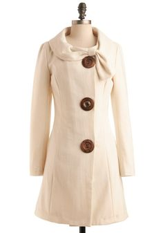 Oversized buttons give this sophisticated coat a playful touch (@MeganGilger www.modcloth.com)