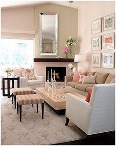 soft girly living room