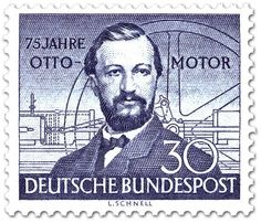 June 10, 1832 Nikolaus Otto born in Holzhausen, Germany. In 1861, he built a gasoline-powered engine and several years later created the internal-combustion engine that the four-stroke cycle. The four-stroke cycle offered an alternative to the steam engine. Despite being patented by Alphonse Beau de Rochas, the four-stroke cycle is known as the Otto cycle.