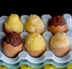 How To Make Cakes In Egg Shells For Easter. Got to try this as a special Easter treat! Think I'll make mine lemon.