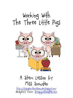 1st Grade with Miss Snowden Thee Little Pigs STEM lesson.... they're never too young for STEM!  ;)