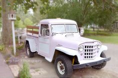Hey, I found this really awesome Etsy listing at https://www.etsy.com/listing/154958222/pink-vintage-truck-photo-shabby-chic