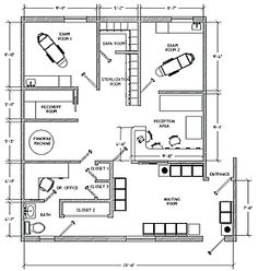 Medical Office Design Layout Floor Plans 28 New Ideas Interior Design Office Space, Interior Design Layout, Layout Design, Office Layout Plan, Office Floor Plan, Medical Office Design, Healthcare Design, Cabinet Medical, Plans Architecture
