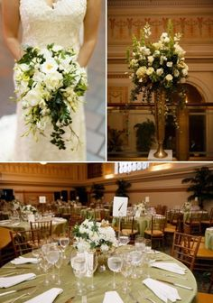 DC Real Wedding - Bergerons Flowers - Bergerons Event Florist Blog #bouquet #bride #flowers #whiteflowers #reception #centerpiece #tabledesign Photo Credit: #StephenGoslingPhotography