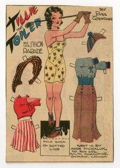 78.2327: Tillie the Toiler | paper doll | Paper Dolls | Dolls | National Museum of Play Online Collections | The Strong