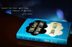 John Green - The Fault in Our Stars The Fault In Our Stars, Tumblr Photography, Book Photography, Good Books, My Books, John Green Books, Nerd Herd, Tfios, Words Quotes
