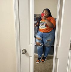 Swag Outfits For Girls, Curvy Girl Outfits, Dope Outfits, Plus Size Outfits, Fashion Outfits, Fat Girl Fashion, Black Girl Fashion, Curvy Fashion, Plus Size Fashion