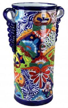Hand Painted Talavera Umbrella Holder