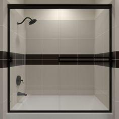 Arizona Shower Door Traditional 54-in to 58-in W x 56.375-in H Frameless Sliding Shower Door