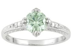 Moissanite Luisant Mint(Tm) 1.00ct Diamond Equivalent Weight Round Platineve(Tm) Solitaire Ring
