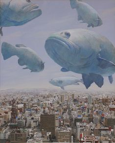 ♂ Dream / Imagination / Surrealism - flying fishes