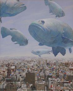 ♂ Dream / Imagination / Surrealism - flying fishes