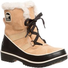 Sorel Women's 'Tivoli II' Suede Mid-calf Cold Weather Boots Brown ($142) ❤ liked on Polyvore featuring shoes, boots, ankle boots, brown, sorel boots, platform boots, long boots, waterproof suede boots and water proof boots