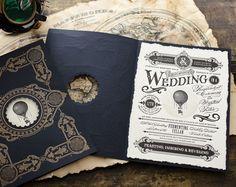 steampunk wedding stationery - Google Search