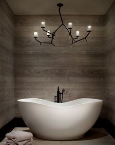 """""""View this Great Contemporary Master Bathroom with Master bathroom & Freestanding Bathtub by Locati Architects. Discover & browse thousands of other home design ideas on Zillow Digs. Bathroom Spa, Bathroom Interior, Small Bathroom, Bathroom Ideas, Bathtub Ideas, Remodel Bathroom, Bathroom Towels, Fitted Bathroom, Bathroom Gallery"""