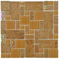 Merola Tile, Garden Versailles Peony 11-3/4 in. x 11 3/4 in. x 8 mm Ceramic and Glass Wall Tile, GDXGVSPN at The Home Depot - Mobile