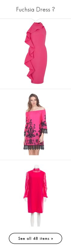 """Fuchsia Dress 💕"" by izzystarsparkle ❤ liked on Polyvore featuring dresses, pink, sale, women, pink sleeveless dress, sleeveless bodycon dress, ruffle dress, pink bodycon dress, ruffle bodycon dress and dark pink"