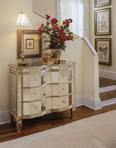 Customer Reviews Avenue Six Mirrored Reflections 3 Drawer Accent Table Silver Bedroom Pinterest Gl Furniture Drawers And