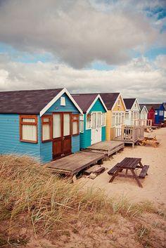 beach huts #splendidsummer