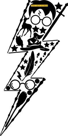 Harry Potter Stencils, Harry Potter Clip Art, Harry Potter Drawings, Theme Harry Potter, Harry Potter Tattoos, Harry Potter Diy, Harry Potter Stickers, Always Harry Potter, Vinyl Crafts