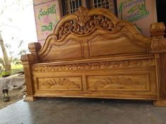 Wood Carving Furniture Bedroom and Pinhumberto Rivera On Camas Talladas In Wooden Main Door Design, Wood Bed Design, Wooden Bedroom, Wooden Sofa, Luxury Bedroom Furniture, Bed Furniture, Carved Beds, Carved Wood, Wooden Bed With Storage