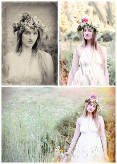 Wedding inspiration floral crowns, Studio 13 Designs, via Aphrodite's Wedding Blog