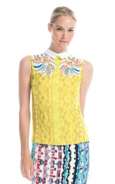 Shop Peter Pilotto Yellow An Top