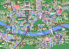 #서울 #관광 #지도 #강남 #경복궁 #한국 #일러스트 #seoul #travel #map #kangnam #illust #illustration Seoul, City Photo, Korea, Illustration, Tours, Illustrations, Korean