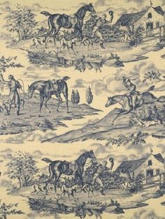 The History of French Fabric toile de Jouy French Decor, French Country Decorating, Chinoiserie, Textiles, Toile Wallpaper, Dog Wallpaper, Equestrian Decor, Equestrian Bedroom, French History