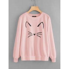 To find out about the Cartoon Cat Print Sweatshirt at SHEIN, part of our latest Sweatshirts ready to shop online today! Girls Fashion Clothes, Teen Fashion Outfits, Trendy Fashion, Fashion Black, Pink Fashion, Fashion Fashion, Korean Fashion, Fashion Brands, Fashion Ideas