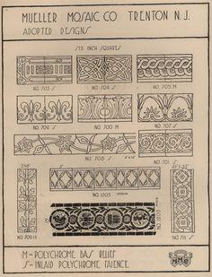 Laurelhurst Craftsman Bungalow: Mueller Mosaic c1920 Tile Catalog