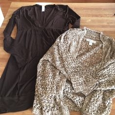 Dressbarn knit top and lush blouse Size med on dressbarn and lush fits between small and medium Dress Barn Tops Blouses