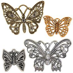 Let your creativity fly with these Steampunk butterfly charms.