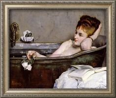 The Bath, circa 1867 Giclee Print by Alfred Georges Stevens at Art.com