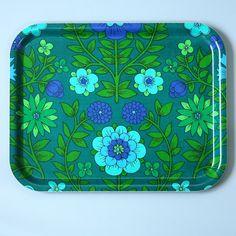 vintage fabric tray