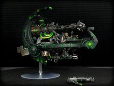 Annihilation barge Necron Army, Warhammer 40k Necrons, Dark Eldar, Paint Schemes, Gw, Minis, Darkness, Sci Fi, Miniatures