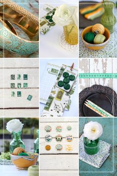 Love this color story. Emerald, Teal, Yellow