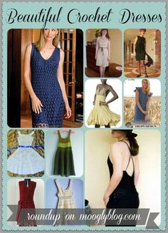 Amazing roundup of 10 free crochet dress patterns for women!  I'll make them without the Pattern!!! Visual Artist!! Lady Crochet!!1