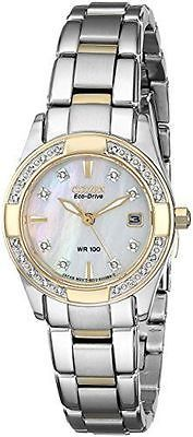 "Citizen Women'S EW1824 57D ECO Drive ""Regent"" TWO Tone Diamond Accented Watch 
