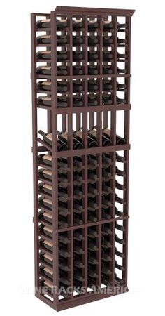 Five Star Series: 5 Column 85 Bottle Display Wine Cellar Rack in Mahogany with Walnut Stain +Satin Finish by Wine Racks America®. $480.33. Choose From either Pine, Redwood, or Mahogany along with optional Industry Leading Quality Eco-Friendly Stains Paired with an Immaculate Satin Finish. Each have custom finishes and are professionally stained to order, so please allow a few additional days after your purchase for your order to be shipped.. 15° industry-lea...