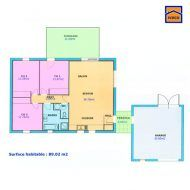 Plan F3 80m2 Plan Maison 100m2 Plan Maison Plain Pied Maison