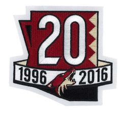 2017 NHL Arizona Coyotes 20th Anniversary Official Hockey Game Jersey Patch  Nhl Season 00a0677e1407