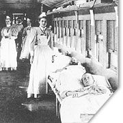 University Hospital Train during the Spanish American War.