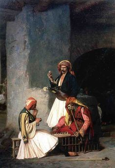 The Draught Players (1859) - Jean-Leon Gerome