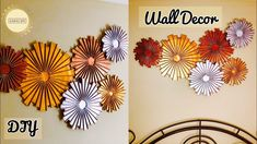 Craft ideas for home decor wall hanging craft ideas paper crafts unique wall hanging diy wall decor Unique Wall Decor, Diy Wall Decor, Home Decor Wall Art, Decor Crafts, Diy Home Decor, Diy Crafts, Wall Hanging Crafts, Hanging Flower Wall, Diy Wall Art