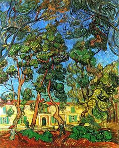 Vincent Van Gogh. The Grounds of the Asylum (1889).