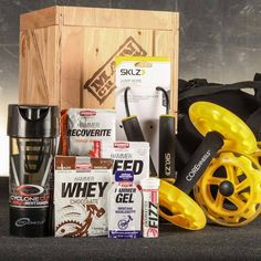 The Muscle Hustle Fitness Crate - You probably won't become the World's Strongest Man, but you could easily become the office's resident pickle jar opener.