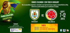 Vamos con todo Selección #Colombia a #Uruguay  Reserva tú cupo ya mismo!